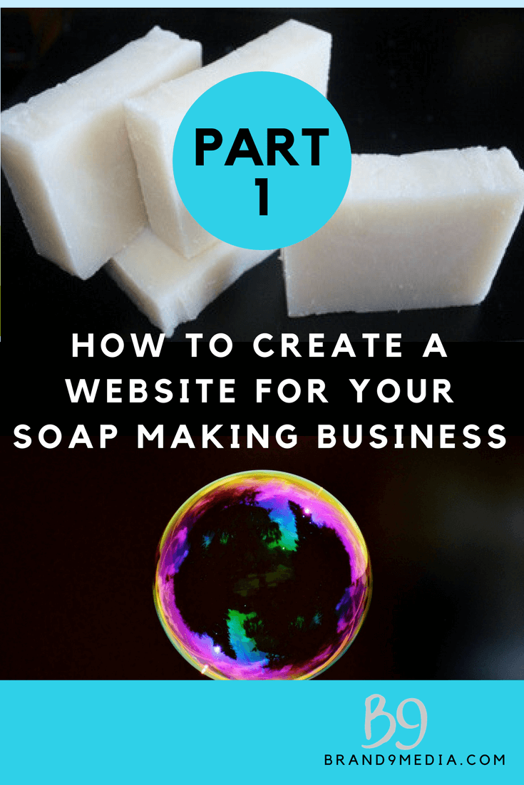create a website for your soap making business